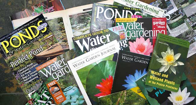 A range of the publications that Aquapic images have appeared in
